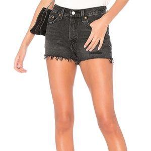 Levi's 501 Distressed Cut-Off Denim Jean Shorts
